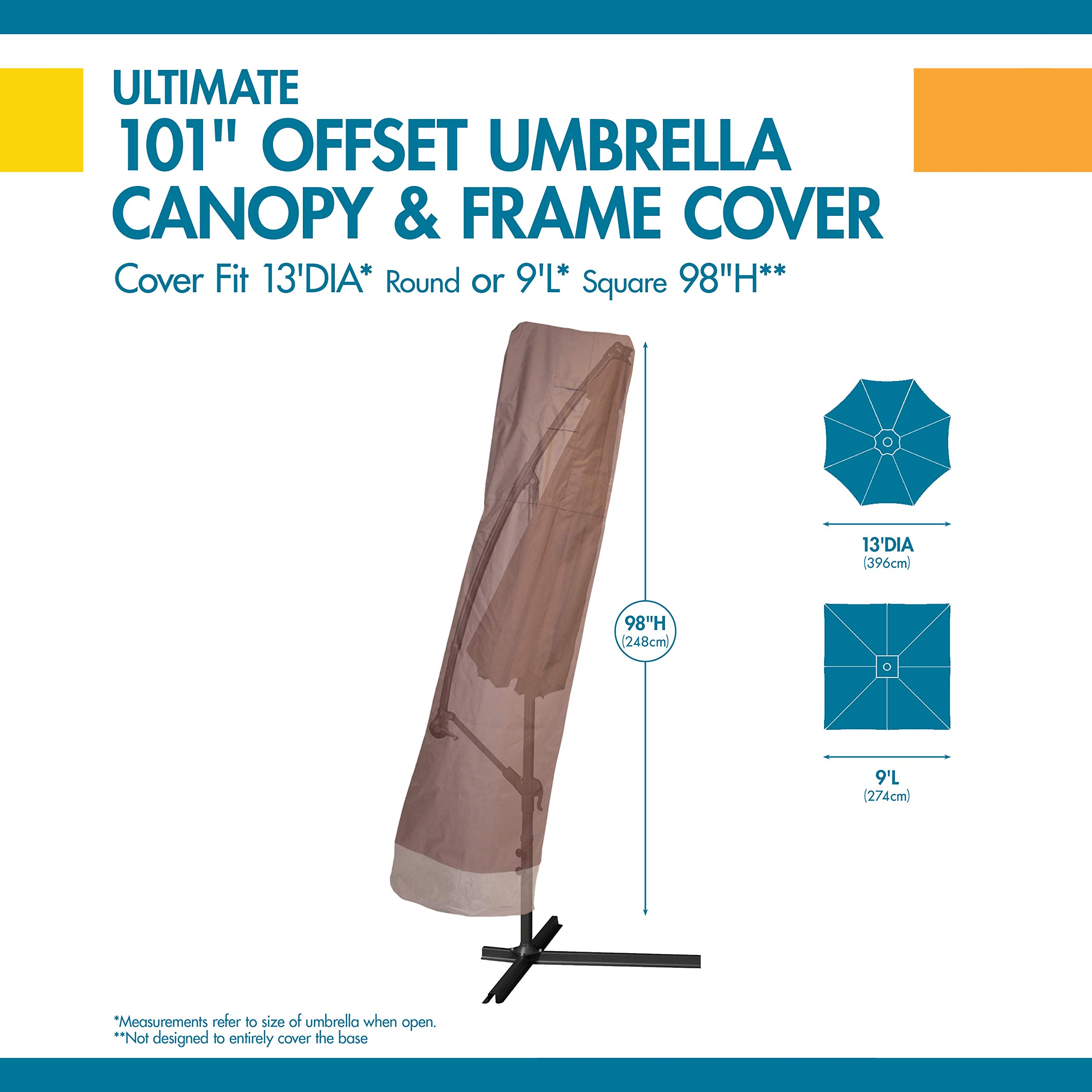 Duck Covers Ultimate Offset Patio Umbrella Cover with Installation Pole by Duck Covers (Image #3)