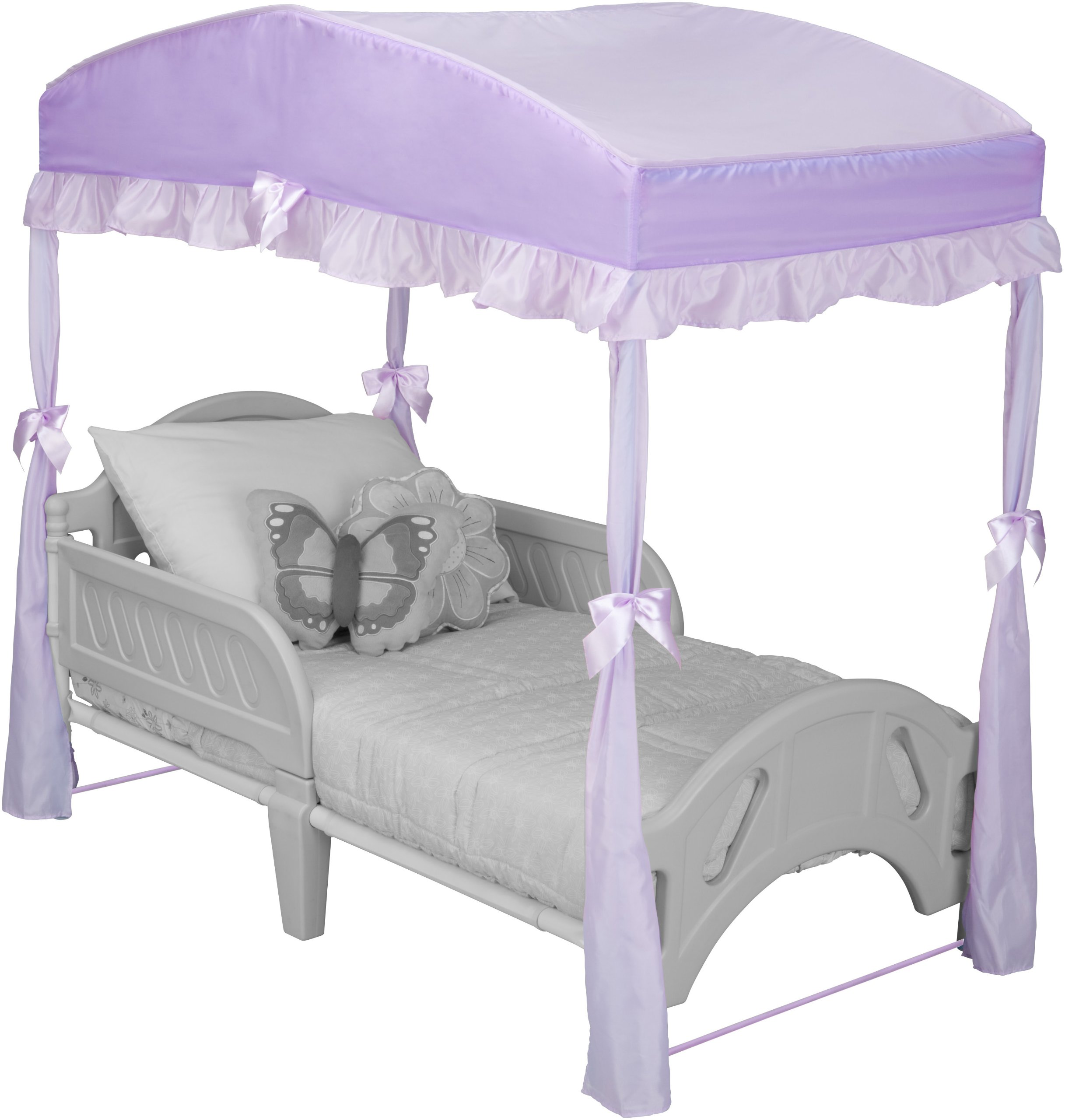 Delta Children Girls Canopy for Toddler Bed, Purple by Delta Children
