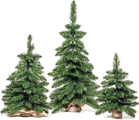 Albero Di Natale Diametro 60.Xone Mini Albero Di Natale Verde Sacco Di Iuta 60 Cm O 40 Cm Amazon It Casa E Cucina