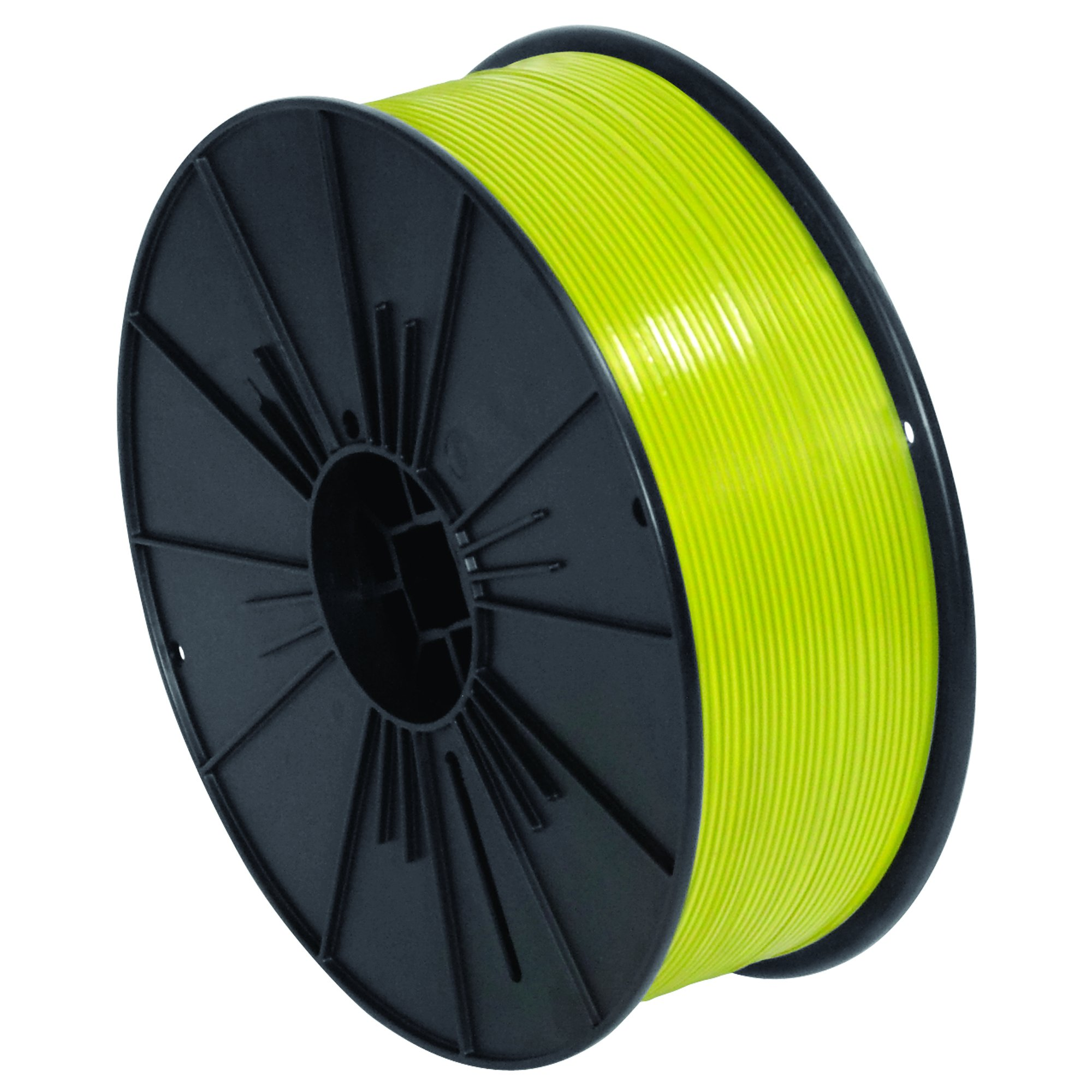 Ship Now Supply SNPLTS532Y Plastic Twist Tie Spool, 5/32'' x 7000', 0.156'' width, Yellow