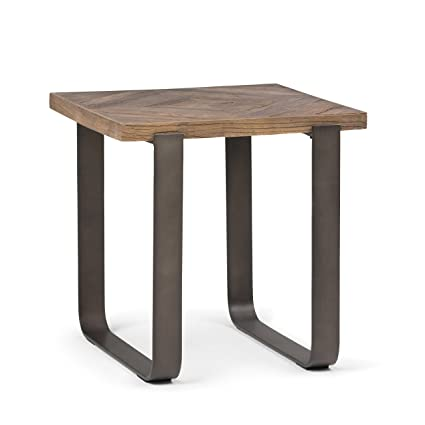 Vintage industrial simmons metal side table Marble Simpli Home Axcpyt02 Peyton Solid Aged Elm Wood And Metal Modern Industrial End Side Amazoncom Amazoncom Simpli Home Axcpyt02 Peyton Solid Aged Elm Wood And