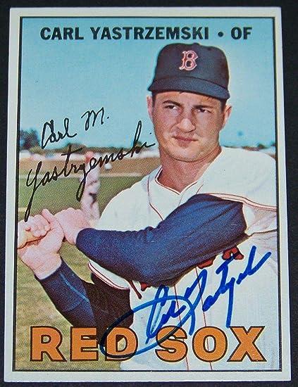 Amazing 1967 Topps Carl Yastrzemski Signed Autographed