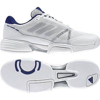 meet a8a36 a267b ... real adidas herren barricade club cpt tennisschuhe weiß footwear white  silver metallic mystery 63000 89044