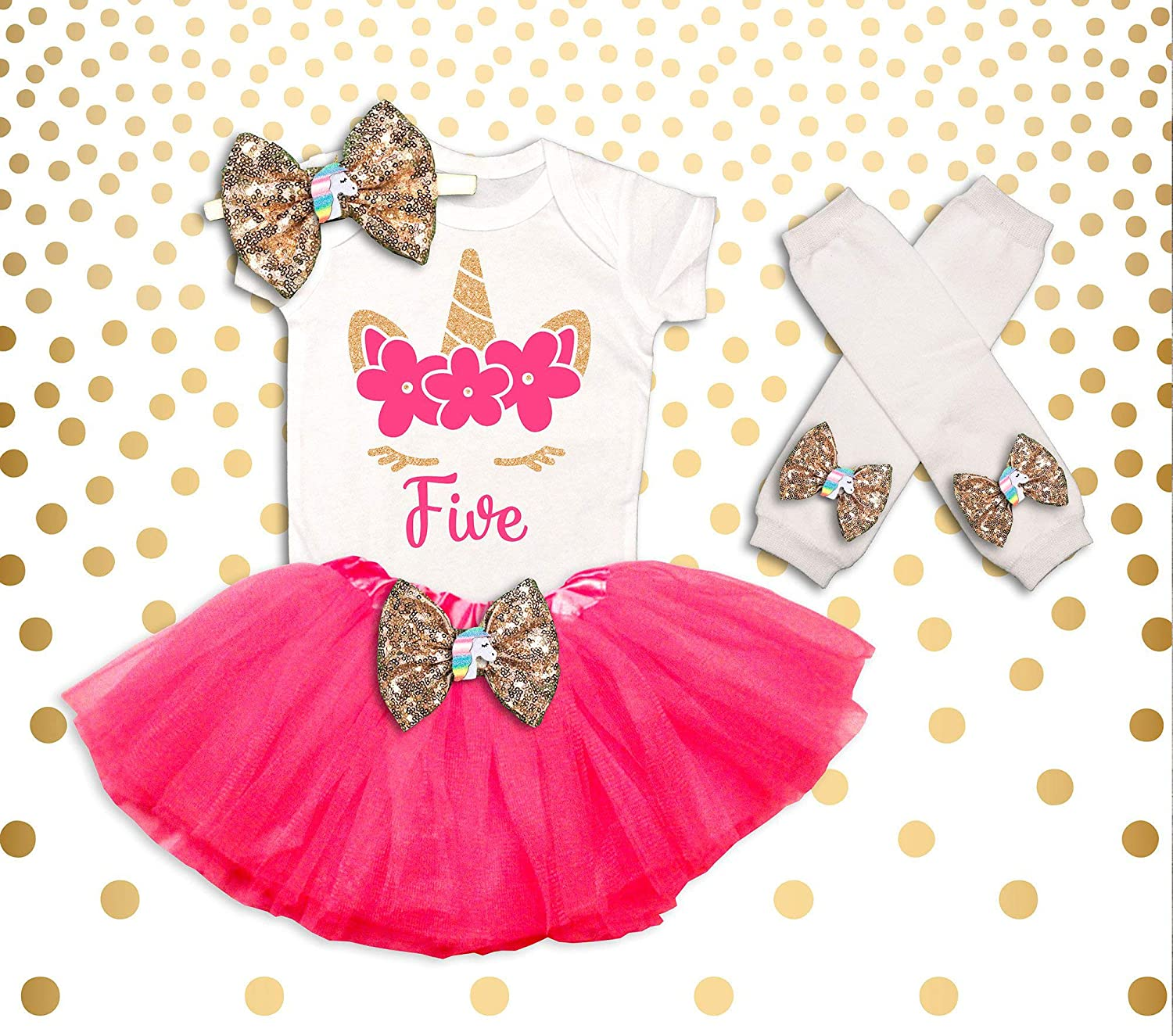 Unicorn 5th Birthday Outfit Girl Shirt Tutu