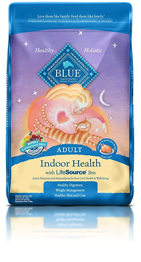 Amazoncom Blue Buffalo Indoor Health Natural Adult Dry Cat Food