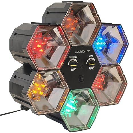 PartyFunLights 6 LED Linkable Lights, schwarz, 86462