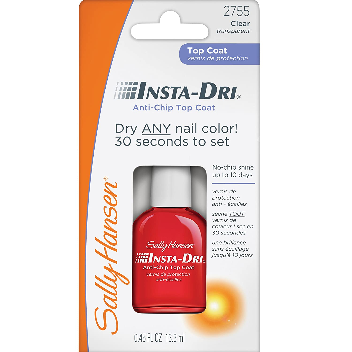No Chip Nail Polish Reviews: Sally Hansen Insta-Dri Anti-Chip Top Coat 696226353930