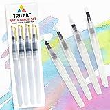 Water Brush Pen Wasserpinsel Set mit Tank für Aquarell / 4 Wassertankpinsel - Tritart