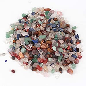 Shiny Stone Decorative Crystal Stones,Aquarium Gravel Rocks,Fish Gravel,Decorative Stones for DIY Home Garden Succulent Gifts Decoration (Colorful Crystal, 7-9mm)