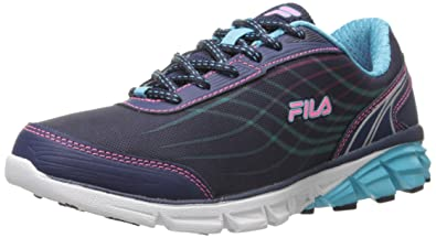 5d16c1be81a Fila Women's Head The Pack Energized Running Shoe, Navy/Bluefish/Knock Out  Pink