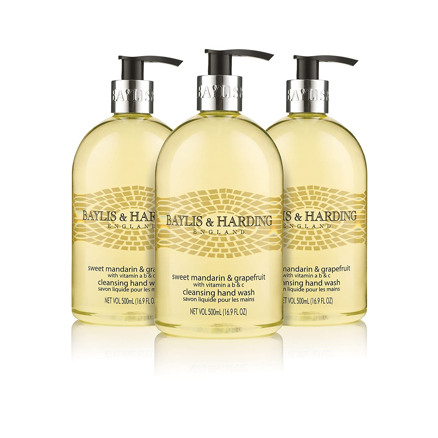 Baylis & Harding Hand Wash, Black Pepper and Ginseng, 500 ml, Pack of 3 BMHWBP