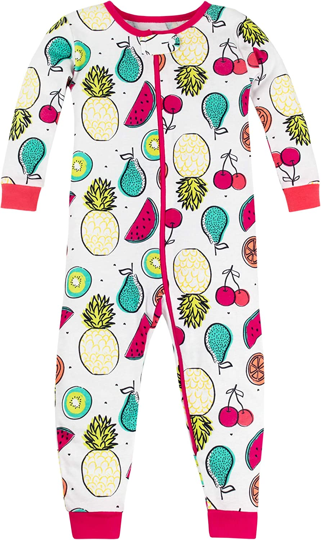 Lamaze Organic Baby Girls Toddler Organic 2 Piece Longsleeve Tight Fit Pajamas Set