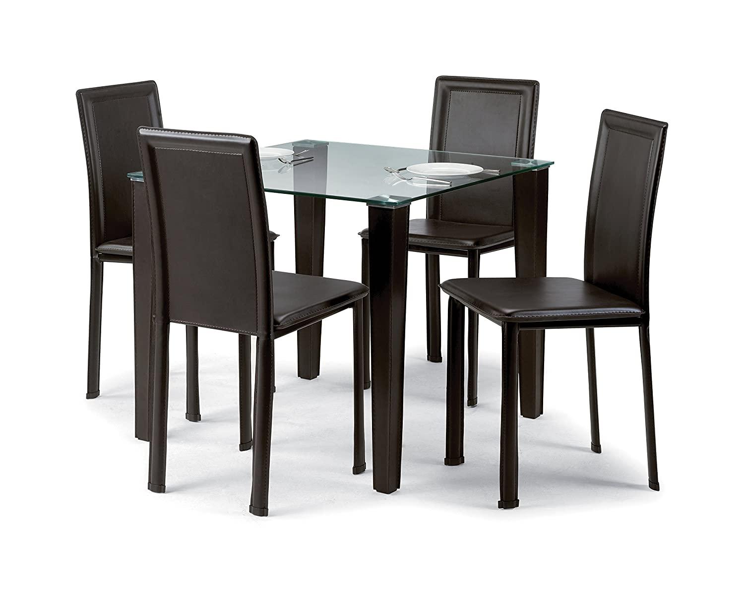crackle glass dining table set