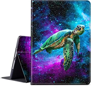 Galaxy Tab A7 10.4 Case 2020 (SM-T500/T505/T507), BEROSET PU Leather Smart Cover with Adjustable Stand & Auto Wake/Sleep Cover for Samsung Galaxy Tab A7 10.4 inch - Galaxy Green Turtle