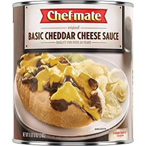 Chef-mate Basic Cheddar Cheese Sauce, Canned Food for Mac and Cheese, 6 lb 10 oz (#10 Can Bulk)