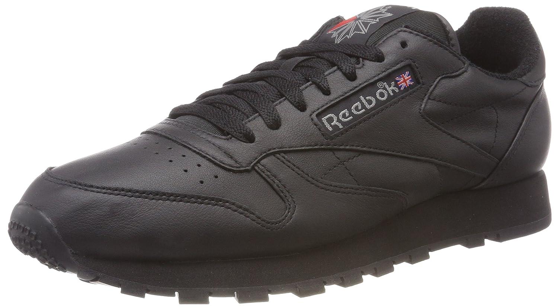 Reebok Herren Classic Leather Archive Gymnastikschuhe  47 EU|Schwarz (Blackcarbonred Blackcarbonred)