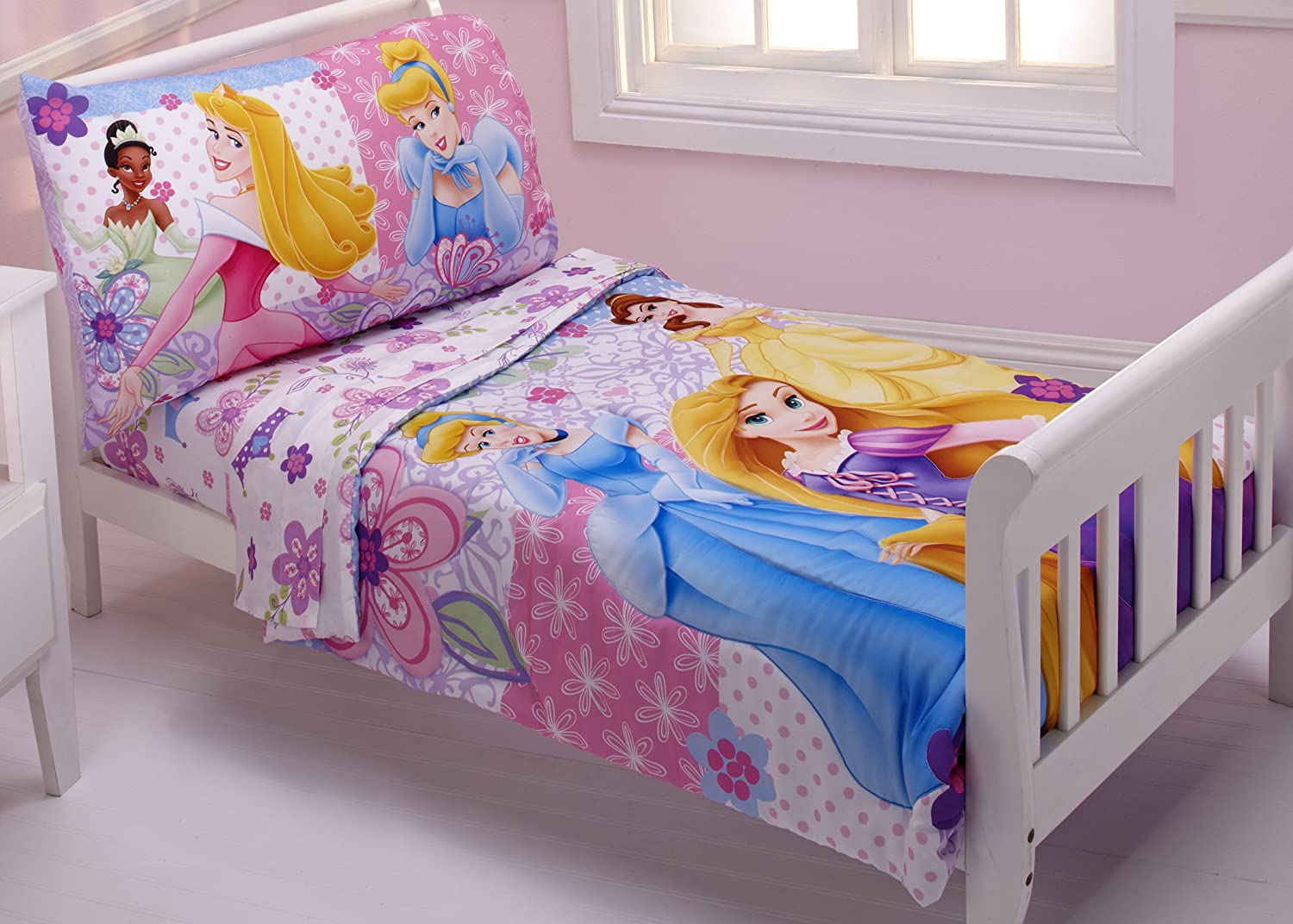 Disney princess toddler bedding 4 piece set - Amazon Com Disney 4 Piece Toddler Set Princesses Wishes And Dreams Twin Bed Comforter Sets Baby