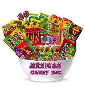 Mexican Candy Assortment (32 Count) Variety of Spicy, Sweet, Sour by Look-On