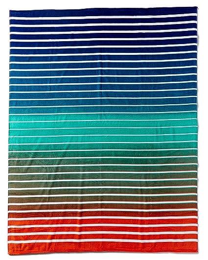 Donola Pattern Stripes - Toalla de playa (terciopelo brasileño, 31 x 51 pulgadas)