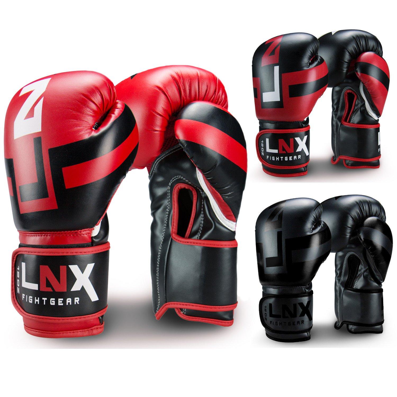 LNX Boxhandschuhe Performance Pro 10 12 14 16 Oz - ideal für Kickboxen Boxen Muay Thai MMA Kampfsport UVM