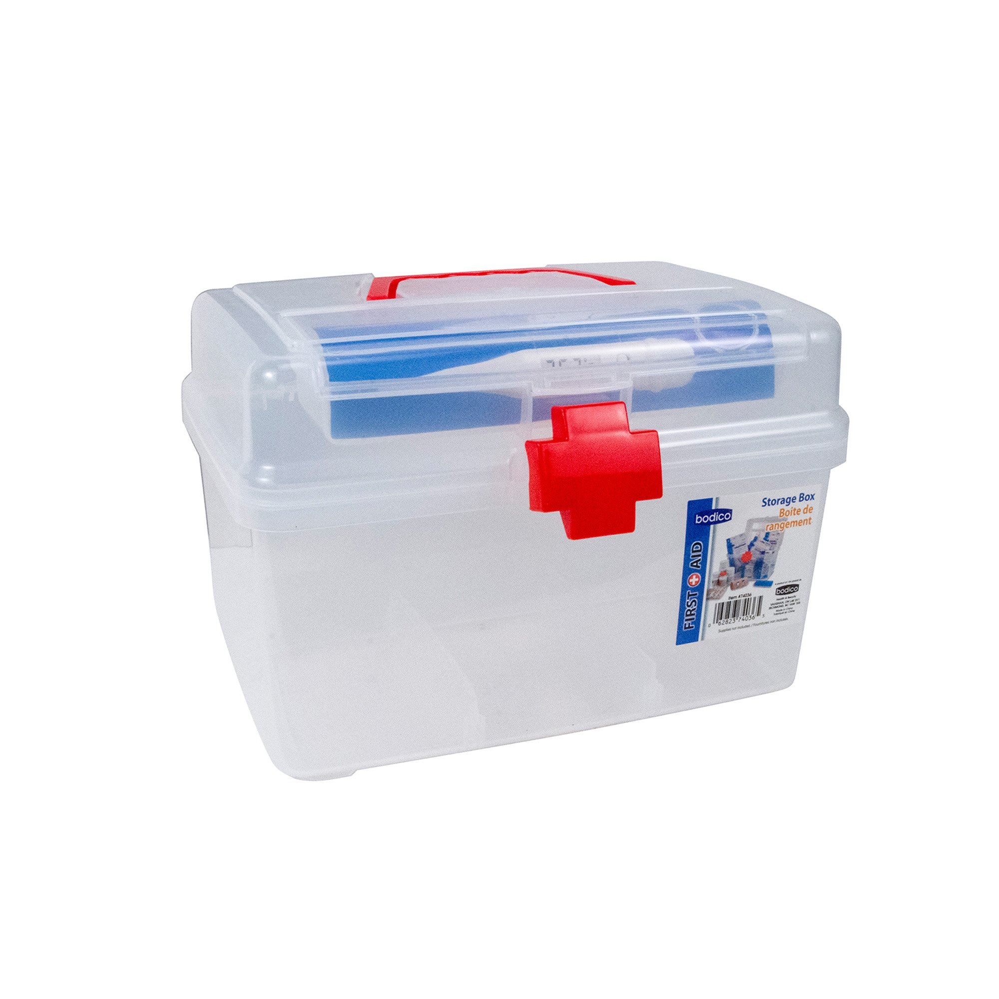 Bodico First Aid Medical Storage, 11 inches, Red