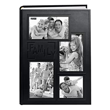 amazon com pioneer collage frame embossed family sewn leatherette