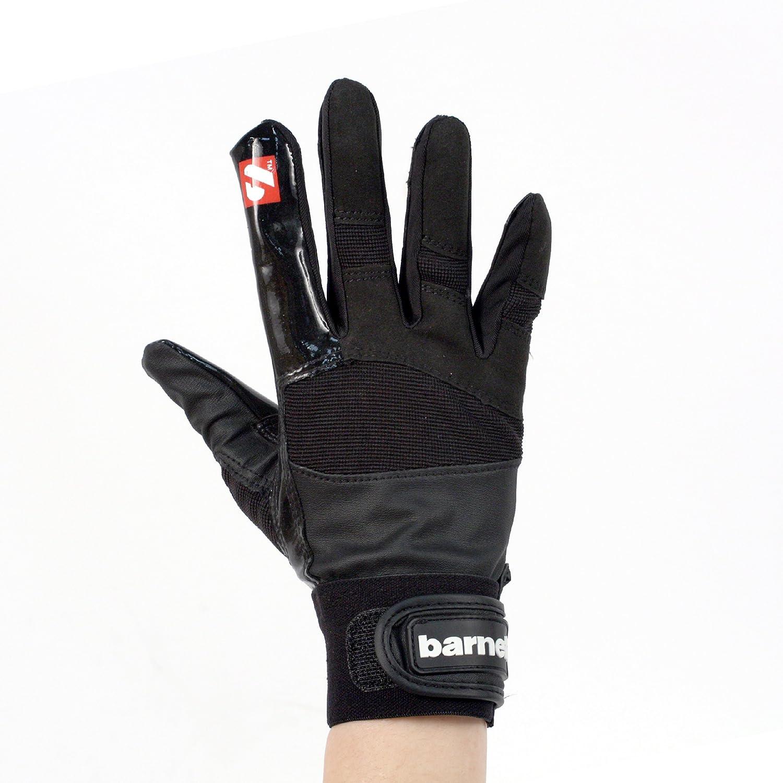Barnett - Guantes de fútbol americano para receptor de sujeción fuerte, color negro