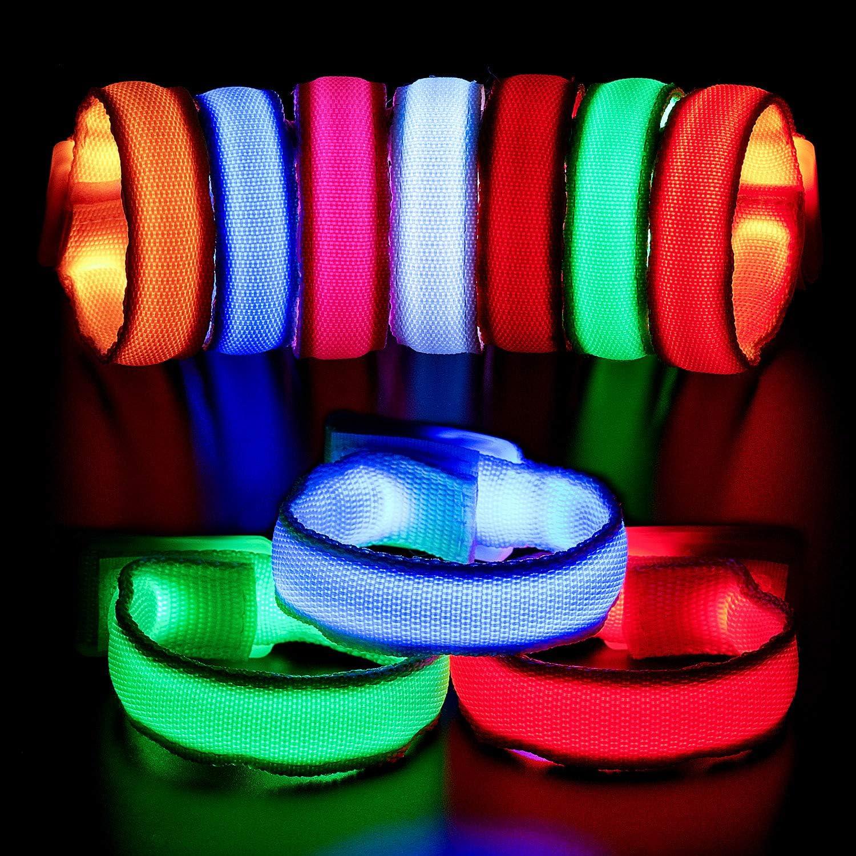 Led Flashing Light Bracelet Wristband Sports Glow Arm Voice Activated Controlled