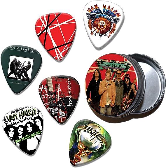 Van Halen Set of 6 Loose Púa Para Guitarra in Tin (Collection C ...