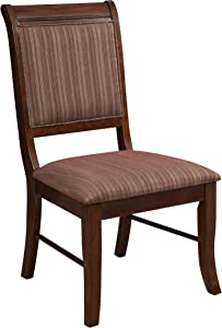 Acme Furniture Side Chair, Fabric & Espresso