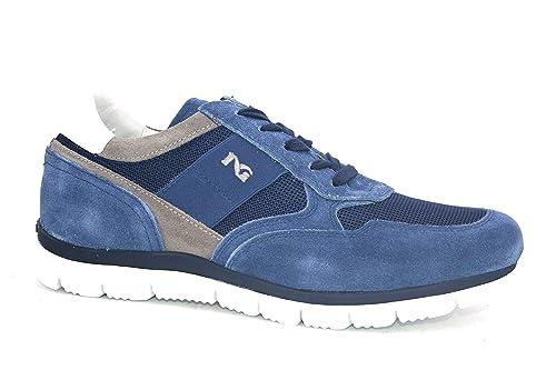 Nero Giardini P900840U 244 Sneakers Scarpe Sportive Uomo Lacci Stringhe Zip  Blu  Amazon.it  Scarpe e borse d98105a7ad6