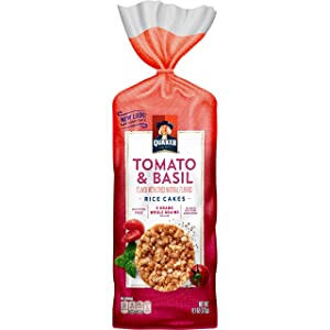 Quaker Rice Cakes, Garden Tomato and Basil, 6.1 Ounce