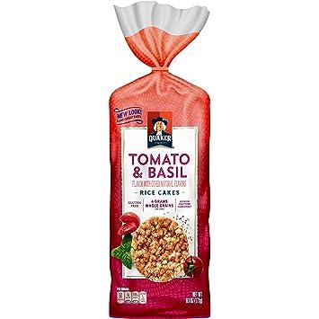 Quaker Rice Cakes, Garden Tomato and Basil, 6.1 Ounce