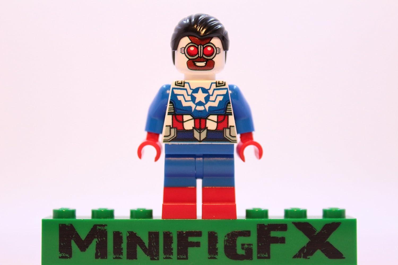 Ms Marvel Version 2 Superhero Printed On LEGO Parts Custom Designed Minifigure