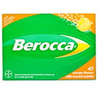 Berocca Energy Vitamin Tablets Orange Flavour, High Dose of Vitamin B Complex, Vitamin B12, Also Contains Vitamin C and Magnesium, Pack of 45 - 6 Weeks Supply