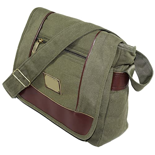 6893050d624ca NISUN Cotton Cross Body Messenger Bag Shoulder Sling Bag Travel Office  Olive 13x4.5x10 inch (Olive)  Amazon.in  Shoes   Handbags