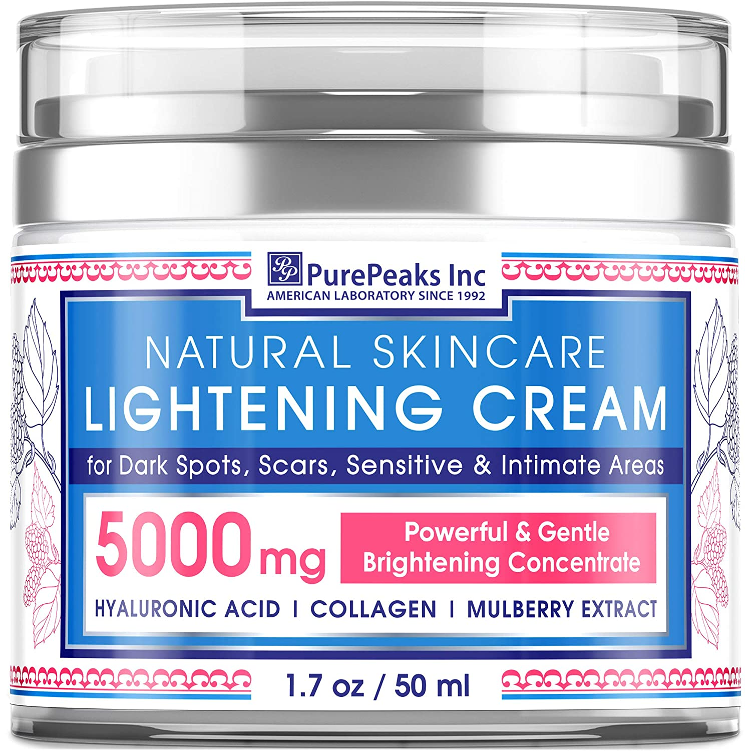 Cream for Face, S?nsitive and Intimate Ar??s - Natural Skinc?re Made in USA - D?rk Sp?t Remover with Arbutin, Hyaluronic Acid and Collagen - 1.7 oz