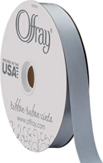 """product image for Berwick Offray 7/8"""" Wide Double Face Satin Ribbon, Dusty Blue, 100 Yards"""