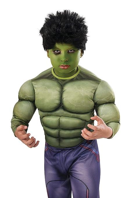 Amazon.com: Avengers 2 Hulk Niño Peluca, Estándar, Negro ...