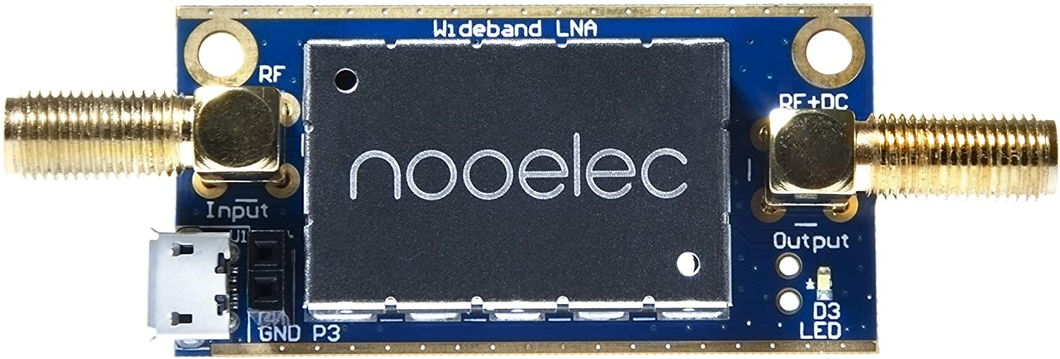 Wideband and Linear 20MHz-4000MHz Frequency Capability with Bias Tee /& USB Power Options Nooelec Lana Barebones Ultra Low-Noise Amplifier Module for RF /& Software Defined Radio LNA SDR