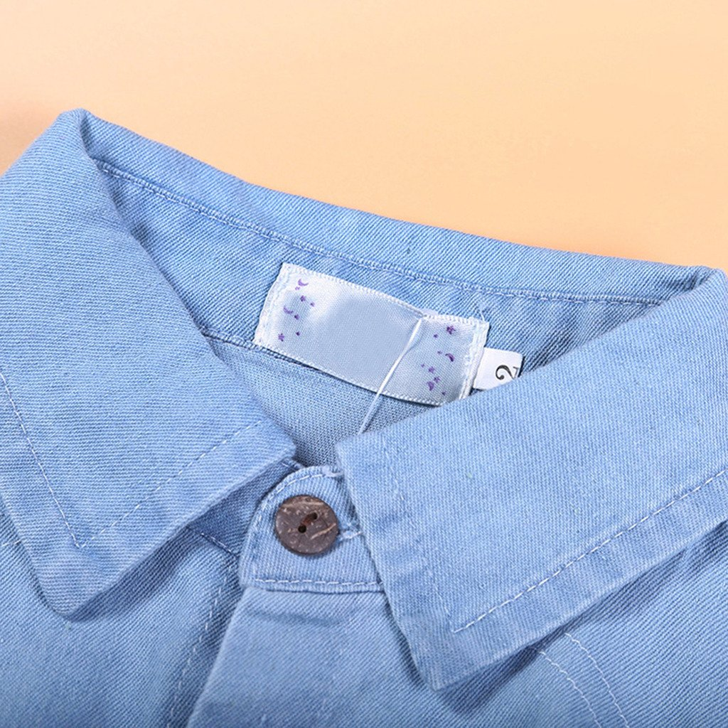 2pcs Kids Baby Girls Ripped Jeans Denim Clothing Set Shirts+Jeans 105/110CM by ShangYi (Image #4)