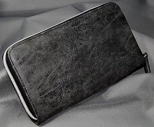 8eb6f416bf19 Amazon   ヴィンテージ調 ラウンドファスナー 長財布 [ LG-001 ライフガード ] 誕生日プレゼント メンズ 財布 (ブラック)   財布