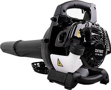 DeTec DT-BL260 - Aspirador de hojas de gasolina con bolsa, correa y asa para transporte y asa, incluye práctico triturador con regulador de velocidad: Amazon.es: Bricolaje y herramientas