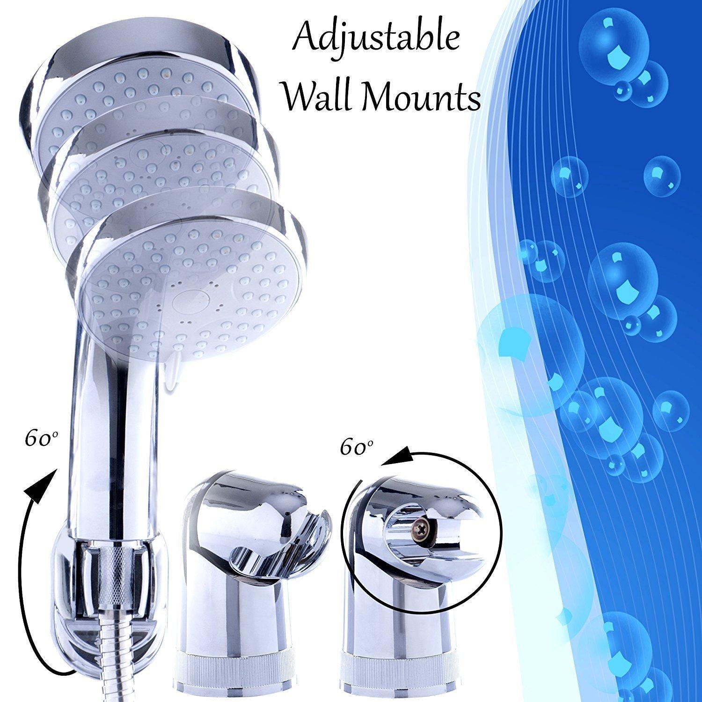 Amazon.com: Handheld Shower Head Set 3 Spray Modes With 5 ft ...