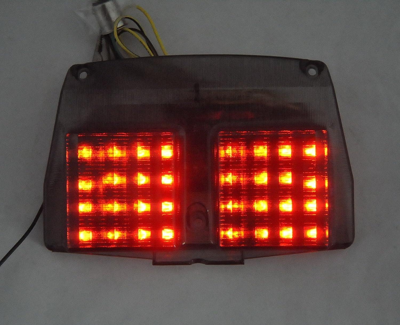 Topzone Lightings SmokedレンズオートバイLEDテールブレーキテールライトwith Integrated Turn信号ランプインジケータfor Ducati 998 /996 /916 /748 B01MUZ7GQW