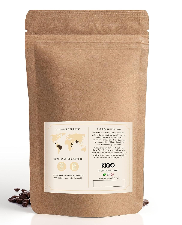KIQO Cremoso Espresso   excelente café tostado premium de Italia   tostado suave en lotes pequeños   relativamente bajo en ácido y digerible   15% Arábica y ...