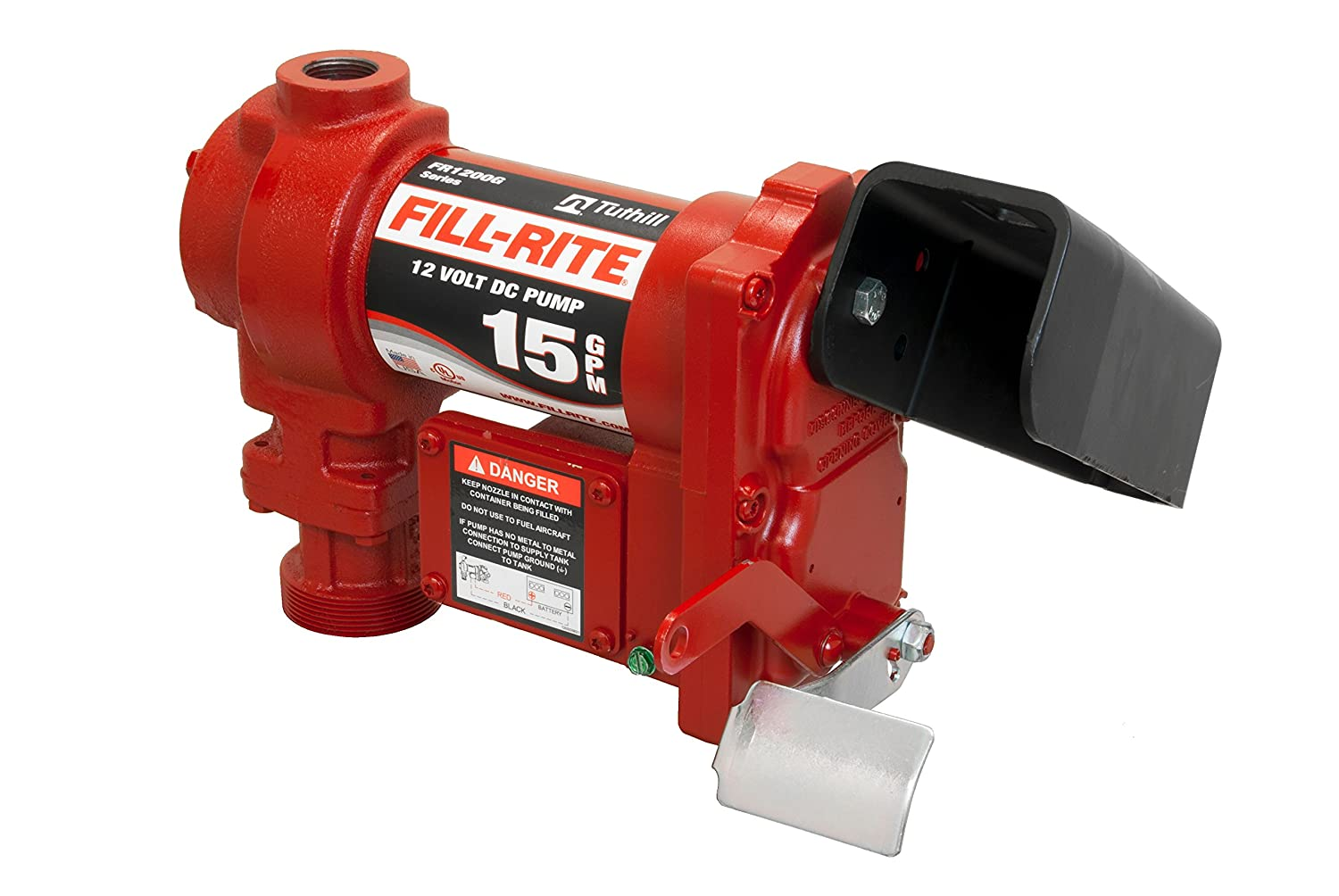 Amazon.com: Fill-Rite FR1210GARC 12V 15 GPM Fuel Transfer Pump with