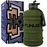 FUNUS Big Water Bottle 1.3-2.2L Water Bottle Huge Big Leak Proof BPA Free Large Water Jug for Workout Fitness Gym…