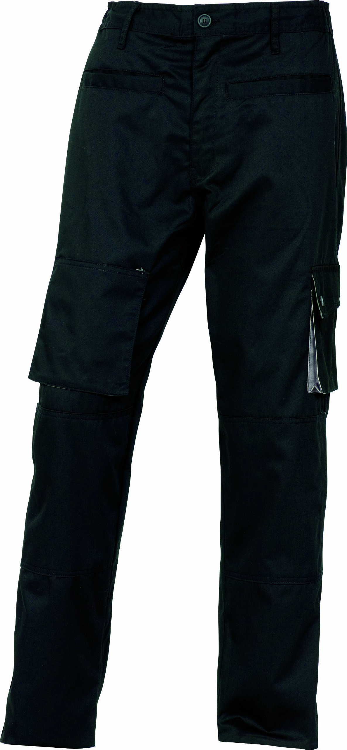Panoply Men's Mach2 Black Winter Warm Lined Work Trousers Work Pants Medium Black with Grey trim