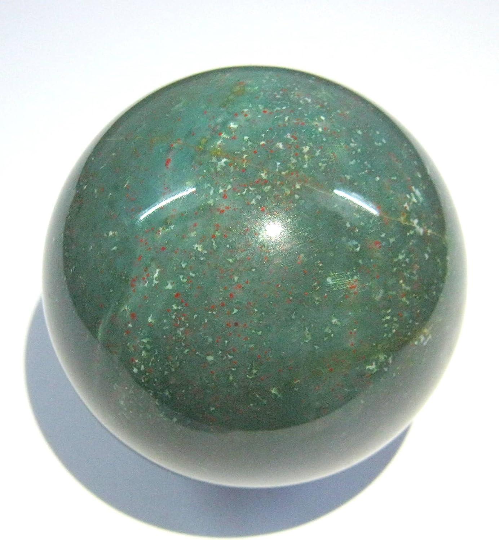 261 gramos de piedra de sangre 57 mm Esfera Crystal curación FENG ...